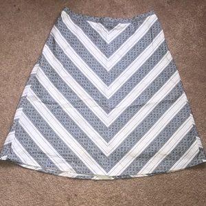 Ann Taylor Loft a-line chevron skirt. Size 10.